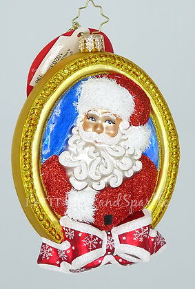 Christopher Radko A Prized Portrait Santa 1020352 Christmas Ornament