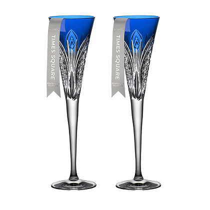 Waterford 2021 Times Square 2022 Flute Set of 2 Cobalt 1059622