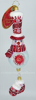 Christopher Radko Smitten Mitten Snowman 1020092 Unique Christmas Ornament