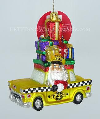 Christopher Radko Hailing A Holiday Cab Santa 1020316 Christmas Ornament