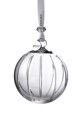 Waterford 2020 Aras Ball 1055105 Crystal Christmas Ornament