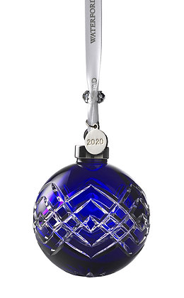 Waterford 2020 Sapphire Cased Ball 1055104 Christmas Ornament