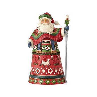 Jim Shore Heartwood Creek Lapland Santa with Staff 6001463 New 2018