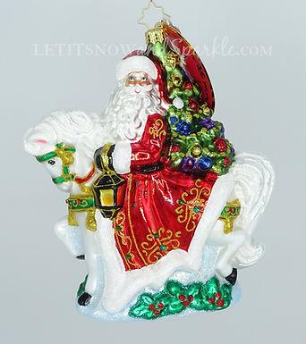 Christopher Radko Galloping into Christmas 1020088 Unique Christmas Ornament