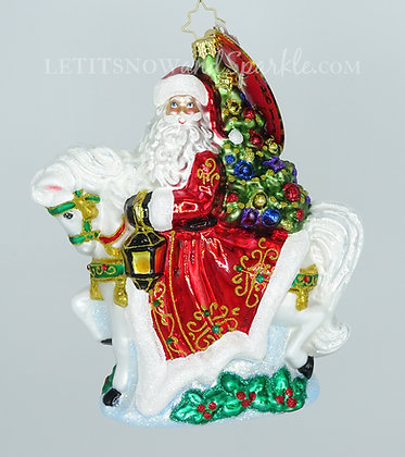 Christopher Radko Galloping into Christmas 1020088 Unique Christmas Ornament