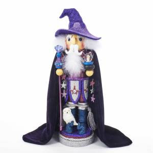 Kurt Adler HA0394 18 inch Hollywood Purple Wizard Nutcracker New 2018