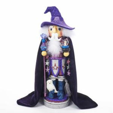 Kurt Adler HA0394 18 inch Hollywood Purple Wizard Nutcracker New 2018