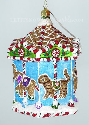 Christopher Radko Gingerbread Menagerie Carousel 1019815 Christmas Ornament