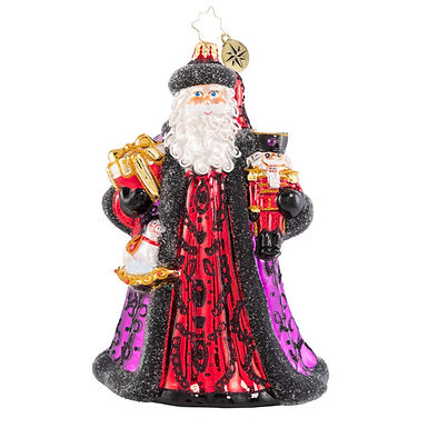 Christopher Radko Bearing Bountiful Gifts Santa 1020615 Christmas Ornament