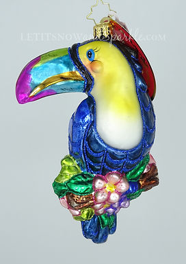 Christopher Radko Who Can? Toucan! 1020424 Christmas Ornament