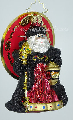 Christopher Radko Ebony Clad Mr. Claus Gem 1020255 Unique Christmas Ornament