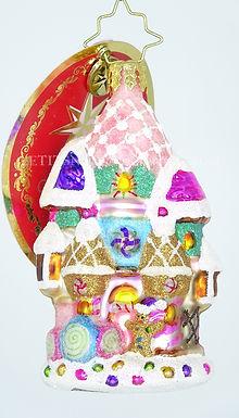 Christopher Radko Little Gem Candy Castle Christmas 1019188 Christmas Ornament