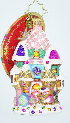 Christopher Radko Little Gem Candy Castle Christmas 1019188 Christmas Ornament