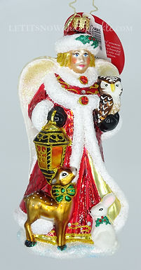 Christopher Radko Snow Angel Guide 1020108 Unique Christmas Ornament