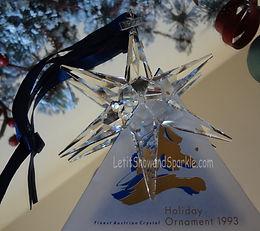 1993 Swarovski Annual Edition Christmas Ornament