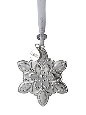 Waterford 2020 Silver Annual Snowflake 40035281 Christmas Ornament