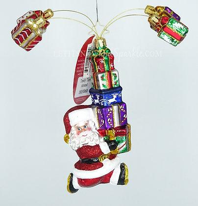 Christopher Radko Timely Turn Around Santa 1019360 Christmas Ornament
