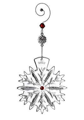 Waterford 2020 Snowflake Wishes Love Cranberry 1055480 Christmas Ornament