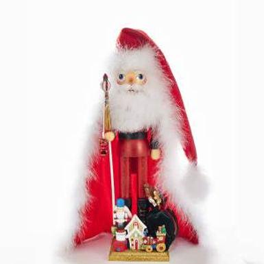 Kurt Adler HA0319 21.5 inch Hollywood Santa With Toys House Nutcracker New 2018
