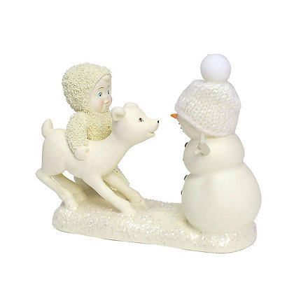 Snowbabies Peace Deer Me, Who's That 6001878 Department 56 New 2018