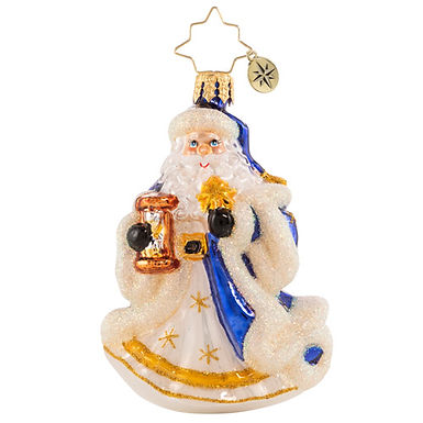 Christopher Radko Celestial Santa Little Gem 1020559 Christmas Ornament