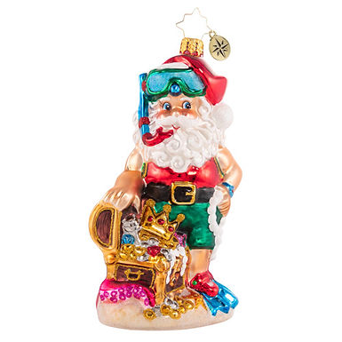 Christopher Radko Deep Sea Surprises Santa 1020844 Christmas Ornament