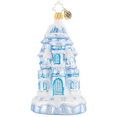 Christopher Radko Magical Ice Palace 1020871 Castle House Christmas Ornament