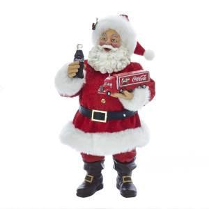 Kurt Adler CC5181 10 inch Santa Holding Coca-Cola Truck New 2018