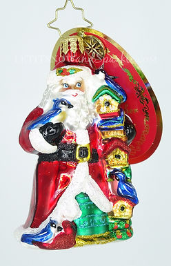 Christopher Radko Little Gem Birdy Christmas Condos Santa 1019206