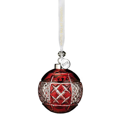 Waterford 2018 Ruby Ball Ornament 40032597