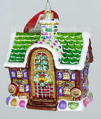 Christopher Radko Gingerbread Home for the Holidays 1019676 Christmas Ornament
