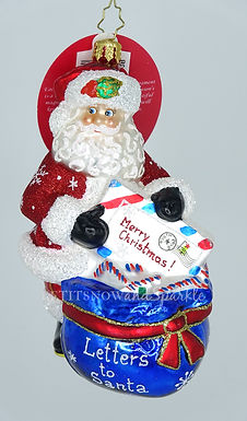 Christopher Radko A Whole Lot Of Letters Santa 1020214 Unique Christmas Ornament