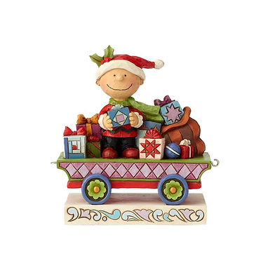 Peanuts by Jim Shore Charlie Brown Christmas Train 6000988 New 2018