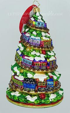 Christopher Radko Terrific Train Track Tree 1020000 Christmas Ornament