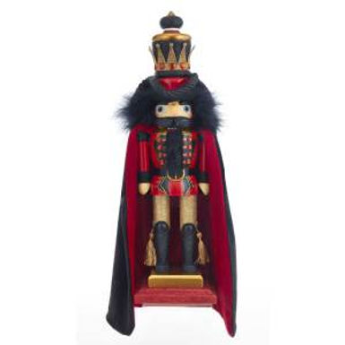 Kurt Adler HA0397 18 inch Hollywood Black and Red King Nutcracker New 2018