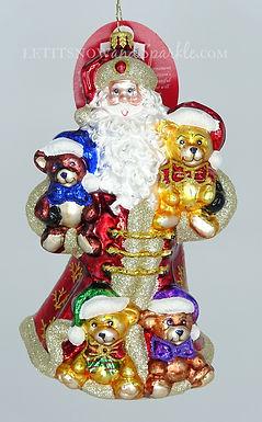 Christopher Radko Flush With Plush Santa 1020149 Unique Christmas Ornament