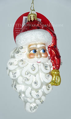 Christopher Radko Grinning Santa 1019914 Christmas Ornament