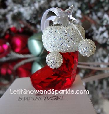 SWAROVSKI SANTA'S STOCKING 944872 CHRISTMAS ORNAMENT