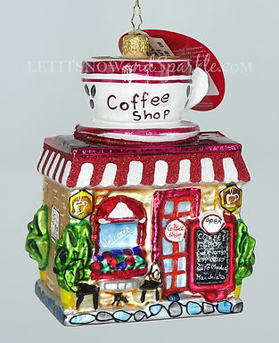 Christopher Radko Wake Up And Smell The Coffee Cottages Houses 1020418