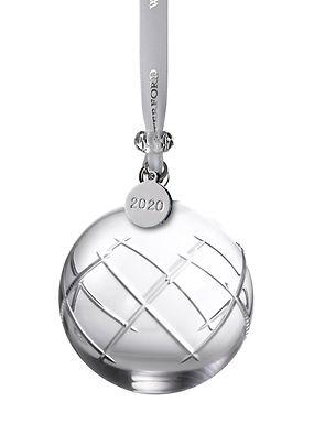 Waterford 2020 Olann Ball 1055107 Crystal Christmas Ornament
