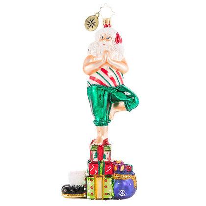 Christopher Radko Yuletide Yoga Santa 1020634