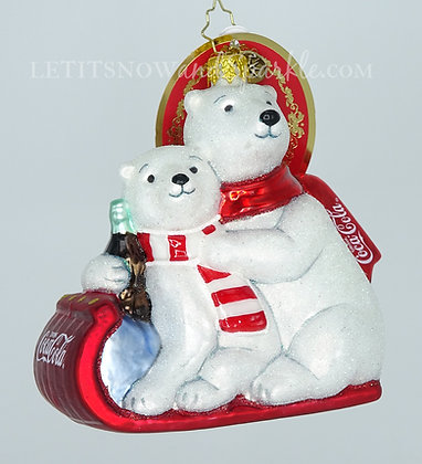 """Christopher Radko The """"Paws"""" That Refreshes Coca-Cola Bears 1020504"""