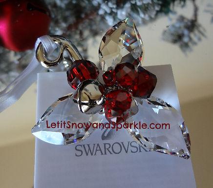 SWAROVSKI WINTER BERRIES CLEAR CRYSTAL ORNAMENT
