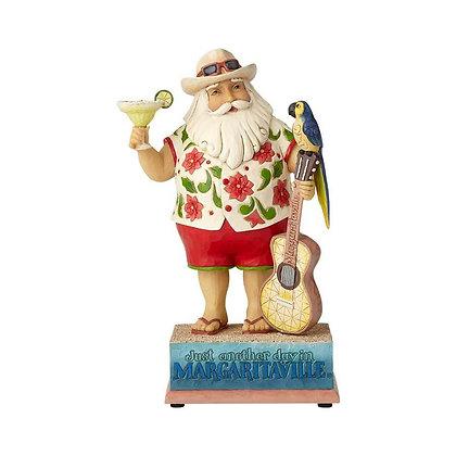 Jim Shore Margaritaville Musical Santa with Guitar 6001535 New 2018