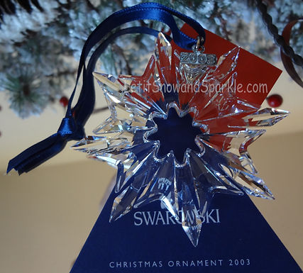 2003 Swarovski Annual Edition Christmas Ornament
