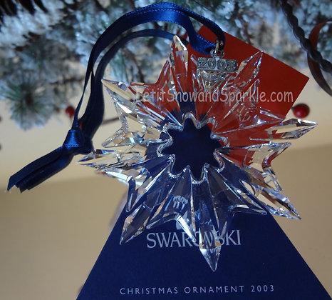 2003 Swarovski Annual Edition Christmas Ornament
