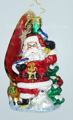 Christopher Radko Santa's Menagerie Of Friends Gem 1020251 Christmas Ornament