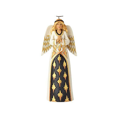 Jim Shore Heartwood Creek Black and Gold Praying Angel 6001436 New 2018