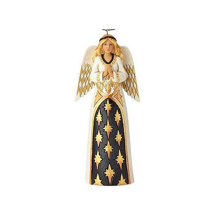 Jim Shore Heartwood Creek Black and Gold Praying Angel 6001436 New 2018