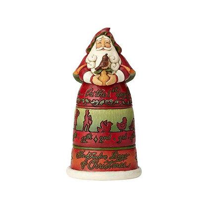 Jim Shore Heartwood Creek 12 Days of Christmas Santa 6001462